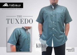 ikhwan-store-baju-koko-modern-tuxedo-green-bottle-broken-white