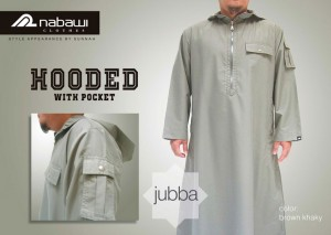 ikhwan-store-jubah-muslim-pria-hooded-with-pocket-brown-khaki