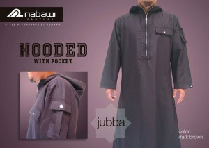 ikhwan-store-jubah-pria-hooded-with-pocket-dark-brown