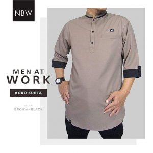 Koko Muslim Kurta Ikhwan Men At Work Series coklat