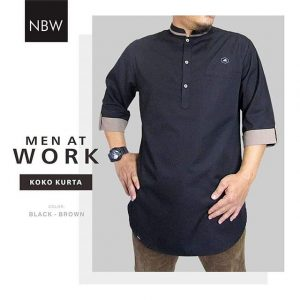 Koko Muslim Kurta Ikhwan Men At Work Series hitam